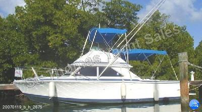 St. Thomas Yacht Sales - Bertram Flybridge Cruiser