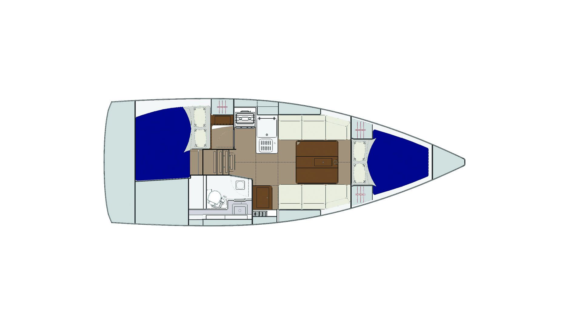 Dufour 310 Grand Large - layout.jpg
