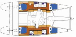 Fountaine Pajot Eleuthera 60 - layout.jpg