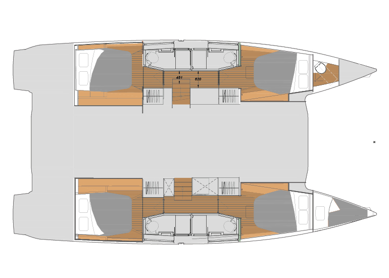 Fountaine Pajot New 45 - plan-new-45-quatuor.jpg